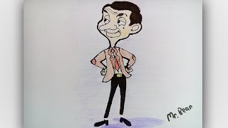How to draw Mr.Bean