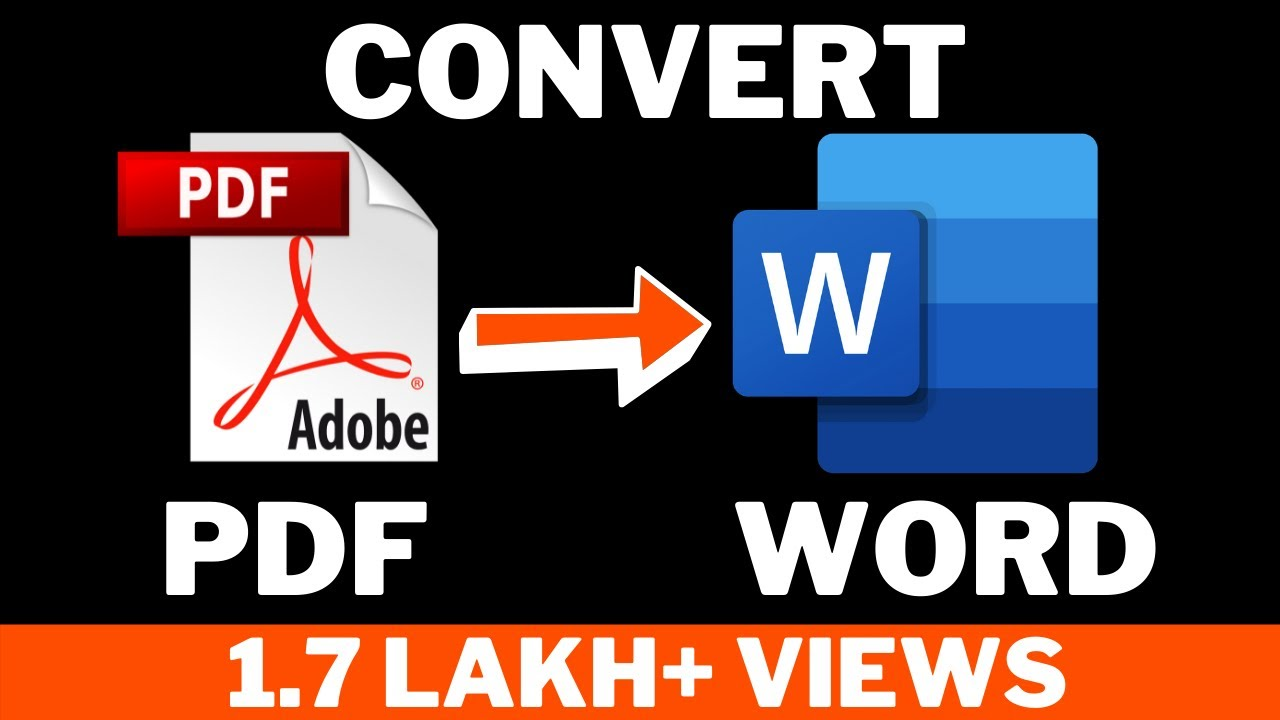 How to Convert pdf to word document ! Hindi - YouTube