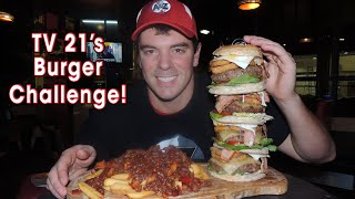 Manchester's Tallest Burger Challenge w/ Chili Cheese Fries | Randy Santel