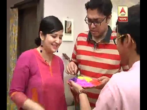 How Anupam celebrated Holi..