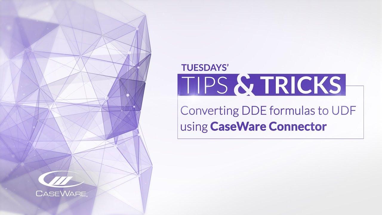 Convert DDE to UDF
