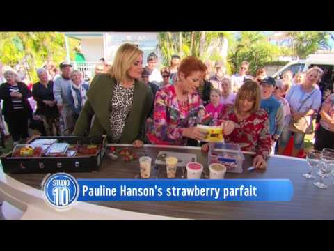 Strawberry Parfait w/ Pauline Hanson | Studio 10