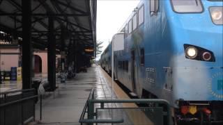 (hd) Deerfield Beach Train Spotting On A Rainy Day Amtrak And Tri Rail