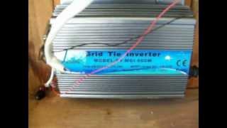 Grid tie inverter 600 watt install
