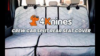 Crew Cab Split Rear Seat Cover Features