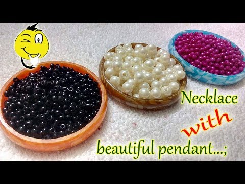 How to make Pearl Beaded Necklace || Diy || jewellery making at home || Diyartiepie