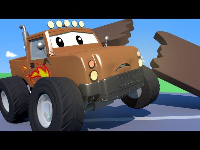 Tom Holownik - Monster Truck Marley miał wypadek! - Miasto Samochodów - Bajki Dla Dzieci