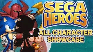 SEGA Heroes [Android / Soft Launch] - All Character Sets, Heroic Skills & Star Skills