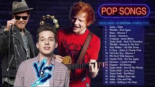 Pop 2019 Hits -  Ed Sheeran, Adele,  Taylor Swift, Shawn Mendes ,Maroon 5, Charlie Puth, Sam Smith