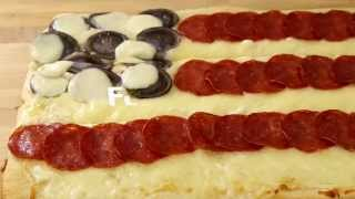 July 4th Recipes - How To Make Flag Pizza
