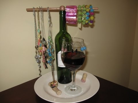 Wine Jewelry Holder Craft Tutorial