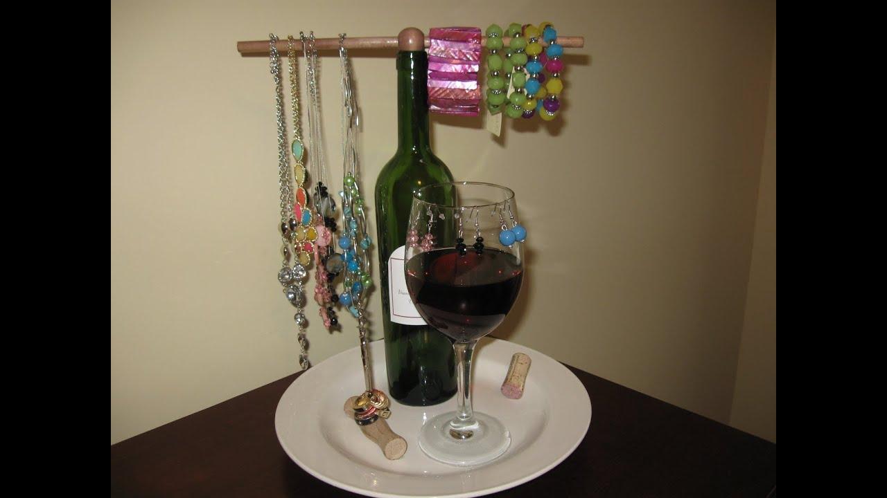 Wine Jewelry Holder Craft Tutorial YouTube