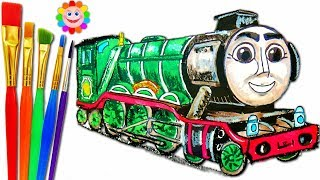 How to DRAW Thomas and Friends the GREAT RACE FLYING SCOTSMAN Coloring Videos for Children