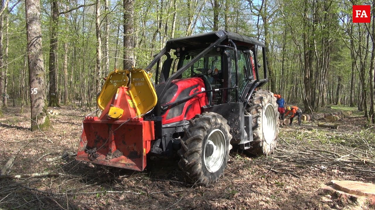 tracteur forestier en action