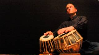 Andy Skellenger playing original Rupak Tal Kaida on Tabla