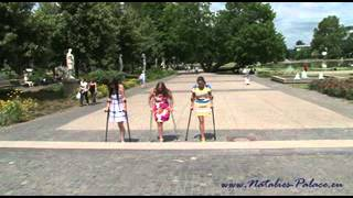 Repeat youtube video Amputee Natalie, Rebecca and Nadia are out on crutches