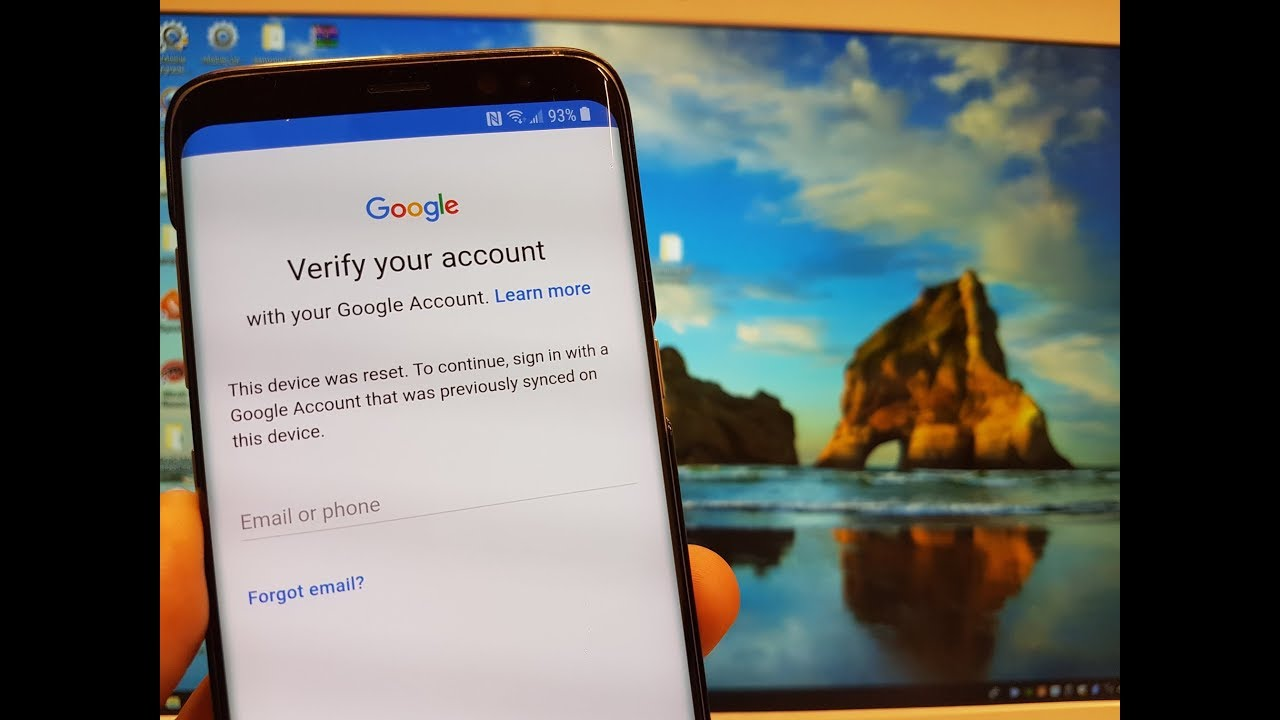 how to delete a google acount from a samsung s8