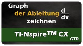 Let's Learn TI Nspire™ CX Graph der Ableitung zeichnen - d/dx