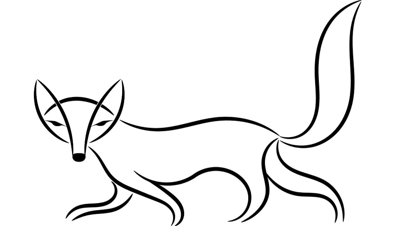 Coloring Pages-How to Draw a fox | how to draw a fox face ...