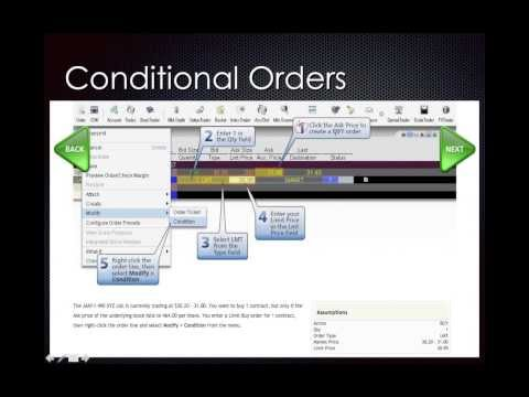 How to trade Conditional Order Types Tour III (Support Group 24 02 2014)