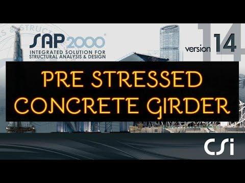 Pre Sressed Concrete Beam using sap2000 v-14   WoW