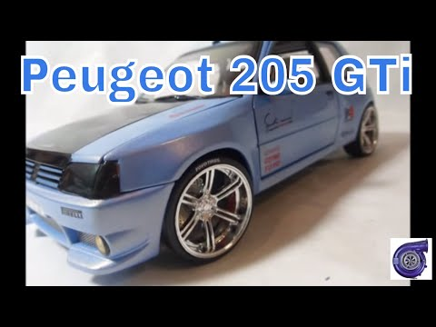 peugeot 205 gti wide kit model 1 18 scale modified model