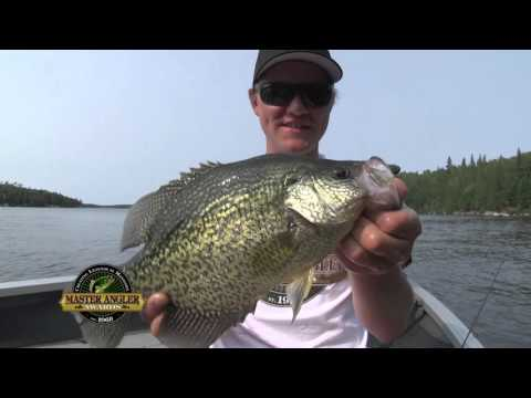 Slab Black Crappie Fishing in Manitoba - Manitoba Master Angler Minute