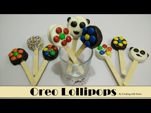 Oreo Lollipops Recipe by Cooking with Smita   Chocolate Covered Oreo Cookie Lollipops