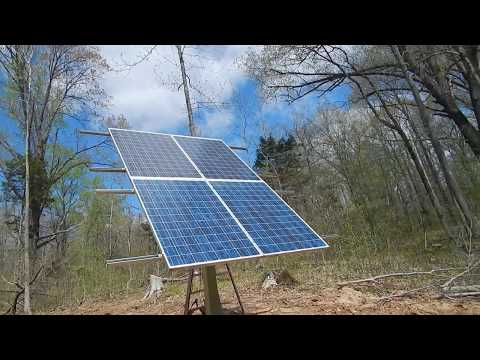 First Test of my  Off Grid Solar Tracker 940 Watts.
