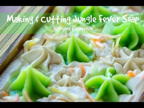 Making and Cutting Jungle Fever Soap