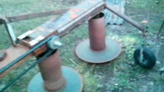 Первый запуск Самодельной роторной косилки)