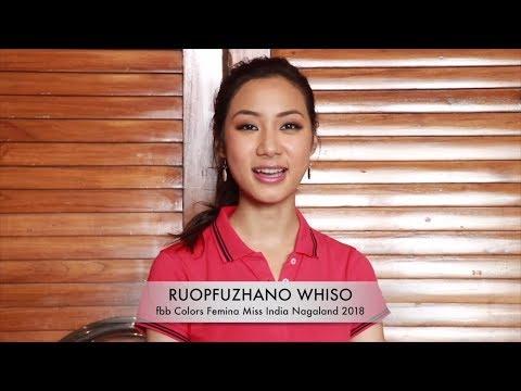 Introducing fbb Colors Femina Miss India Nagaland 2018 Ropfüzhano Whiso
