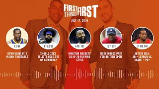 First Things First audio podcast (7.17.19)Cris Carter, Nick Wright, Jenna Wolfe | FIRST THINGS FIRST