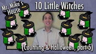 Preschool Learning: Counting Backwards w/ Little Witches (Counting & Halloween series, part 5)