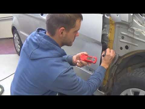 как выполняют ремонт в Германии. подготовка к покраске под толщиномер. часть1