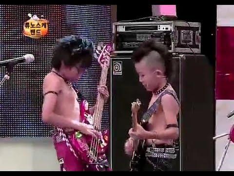 Japanese kids band on Korean TV(Eng Sub)