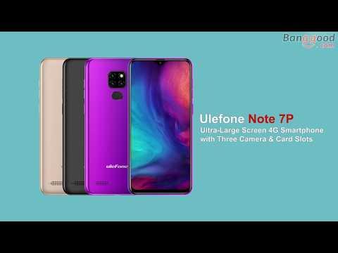 Ulefone Note 7P 6 1 inch Triple Rear Camera 3500mAh 3GB RAM 32GB ROM  MT6761VWB Quad core 4G Smartphone