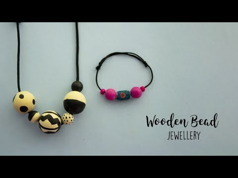 Wooden Beads Jewellery |  Wooden jewelry | Handmade Jewellery