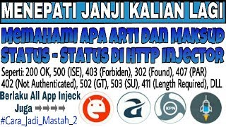 Memahami Arti dan Maksud Status-Status di HTTP Injector dan App Iject Lainnya