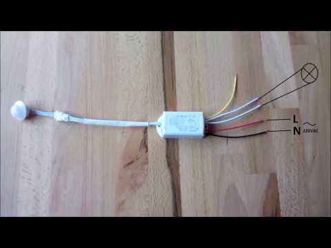 How to connect Body Motion IR Sensor QDDZ-GY01
