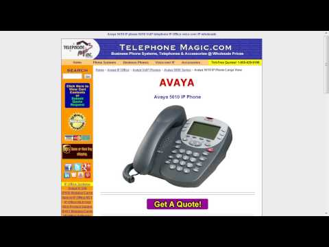 Telecom Tips: Avaya 5600 Series IP phones
