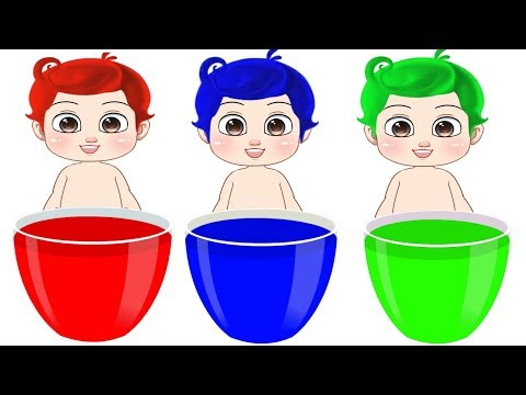 Learn Colors with Surprise Eggs in Water Baby Diapers Learning Video for Children Kids Toddlers Fun