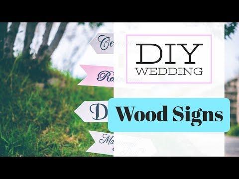 DIY Wedding Sign Wood   Easy Hand Lettering