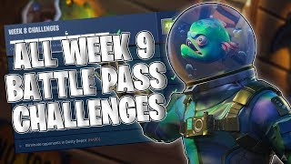 ALL WEEK 9 BATTLE PASS CHALLENGES! CARTE AU TRÉSOR DANS LA BOUE HUMIDE! (Fortnite)