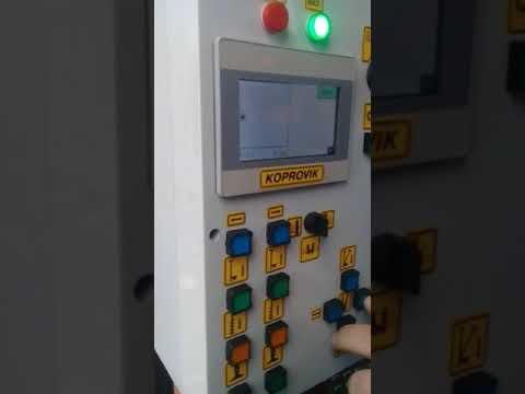Работа пульта управления копровой установки