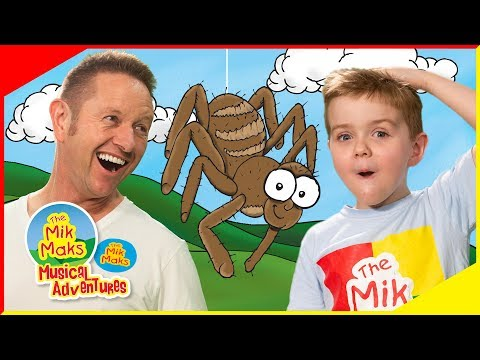 Incy Wincy Spider sing-a-long | Nursery Rhymes and Kids Songs | The Mik Maks