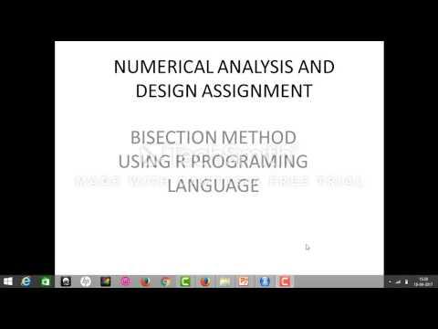bisection method using R programing language
