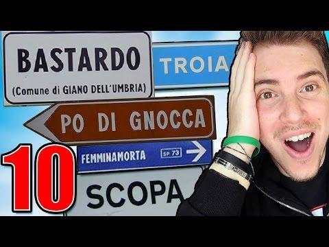 10 CITTÀ ITALIANE CON NOMI STRANI E ASSURDI