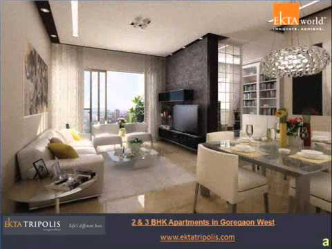 2 bhk 3 bhk flats in goregaon west mumbai youtube for 2 bhk apartment interior design