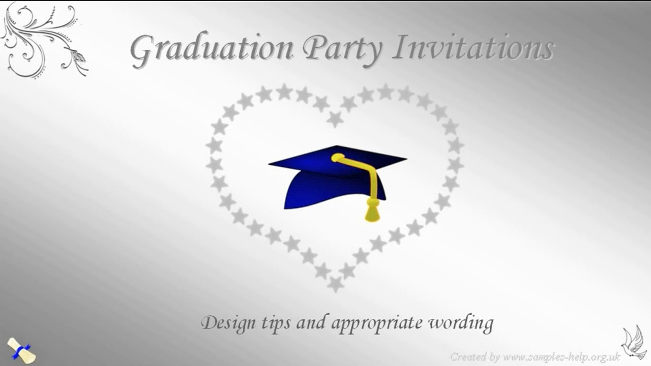 Graduation Party Invitation Wording - YouTube